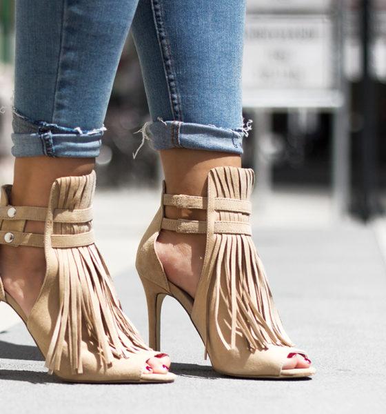 Reserved Fringed Sandal Heels