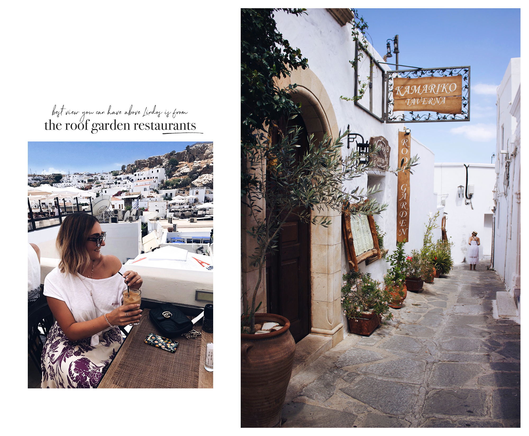 travel guide, rhodos, lindos, roof garden